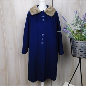 Gloria Gay Royal Blue Vintage Wool Coat
